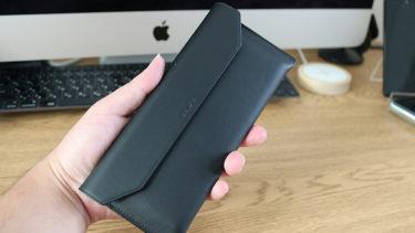 「開封レビュー」。「Huawei Mate Xs」の純正「レザーケース」を購入してみた