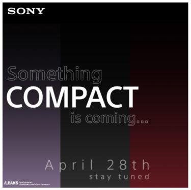 可能性は限りなく低い。4月28日にSonyが何か新しいCompactを発表に?